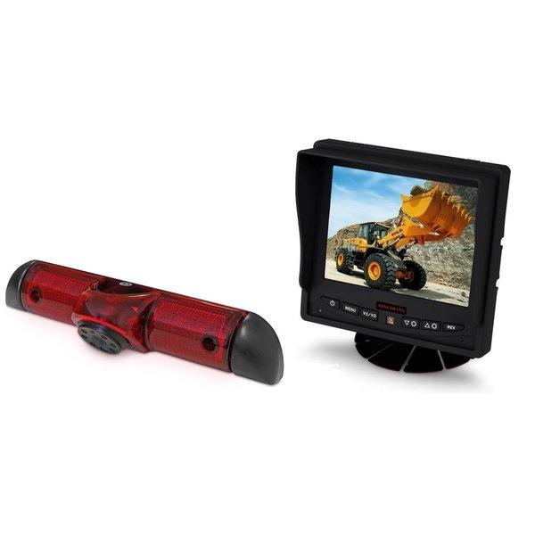 RVS-systemen Fiat Ducato (2006-heden) Remlichtcamera Achteruitrijcamera Monitor 5 inch RVM-560