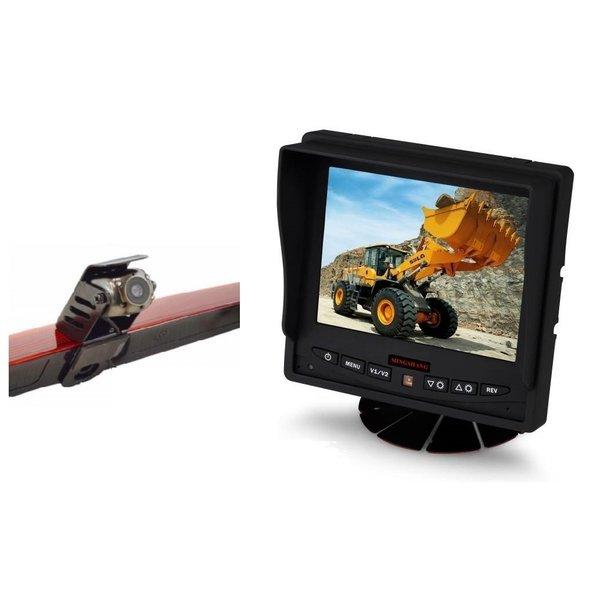 RVS-systemen Mercedes Vito  (2011-2014) Remlichtcamera Achteruitrijcamera Monitor 5 inch RVM-560