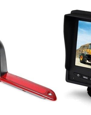 RVS-systemen VW Crafter Hoog (2007- heden)  Remlichtcamera  Monitor 5 inch RVM-560