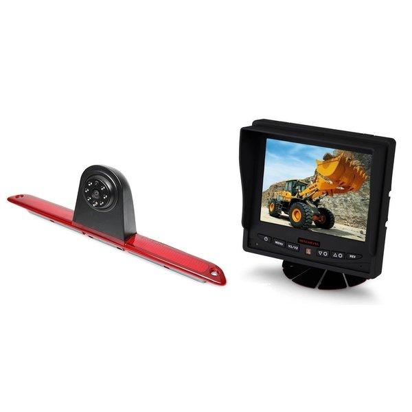 RVS-systemen VW Crafter Hoog (2007- heden)  Remlichtcamera Achteruitrijcamera  Monitor 5 inch RVM-560