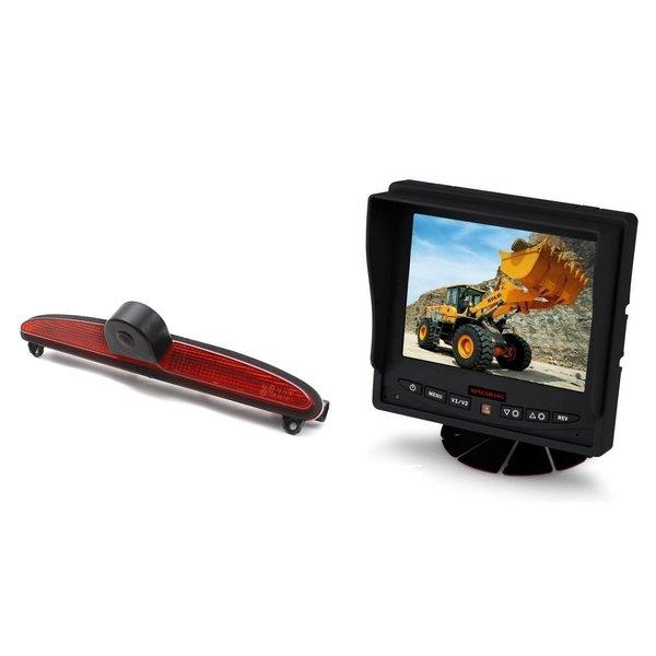 RVS-systemen IVECO Daily (2014 -2018) Remlichtcamera Achteruitrijcamera Monitor 5 inch RVM-560