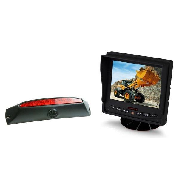 RVS-systemen IVECO Daily (2011-2014) Remlichtcamera Achteruitrijcamera  Monitor 5 inch RVM-560