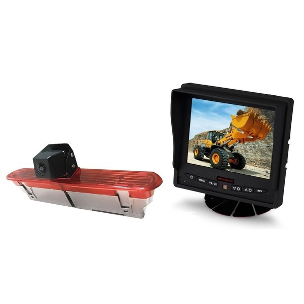 RVS-systemen Opel Combo (2011–2017)) Remlichtcamera  Achteruitrijcamera  Monitor 5 inch RVM-560