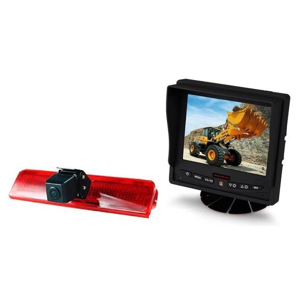 RVS-systemen VW Caddy  (2010-heden) Remlichtcamera Achteruitrijcamera  Monitor 5 inch RVM-560