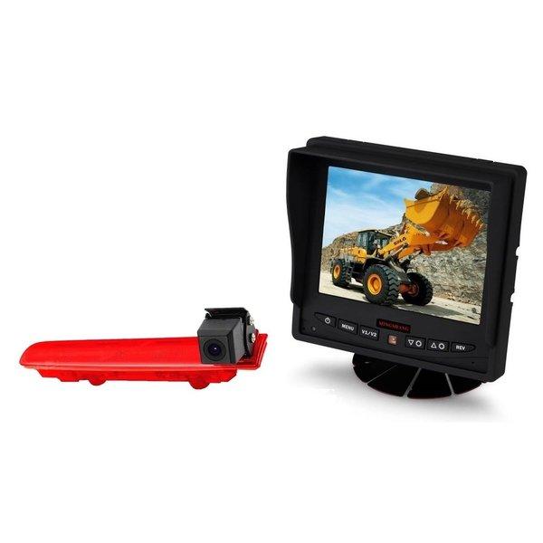 RVS-systemen VW Transporter T5 (2010-heden) Remlichtcamera Achteruitrijcamera  Monitor 5 inch RVM-560