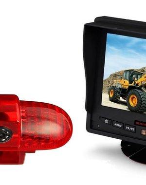 RVS-systemen Opel Combo  (2001 -2011) Remlichtcamera Monitor 5 inch RVM-560