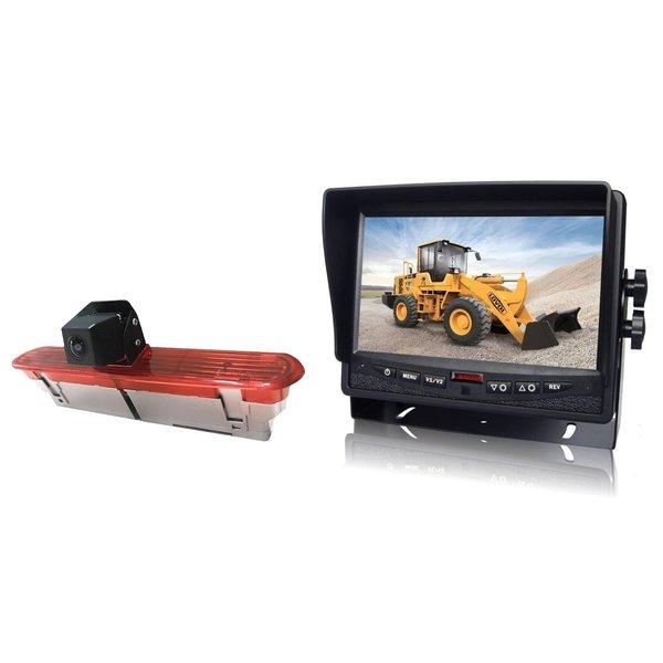 RVS-systemen Fiat Dublo (2010–heden) Remlichtcamera Achteruitrijcamera  Monitor 7 inch RVM-780