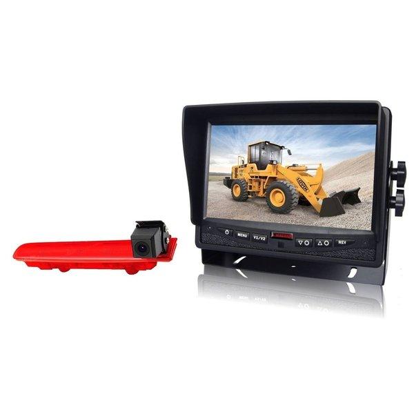 RVS-systemen VW Transporter T5 (2010-heden) Remlichtcamera Achteruitrijcamera  Monitor 7 inch RVM-780