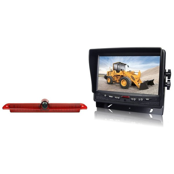RVS-systemen  VW Crafter Led (2007-heden) Remlichtcamera Achteruitrijcamera Monitor 7 inch RVM-780
