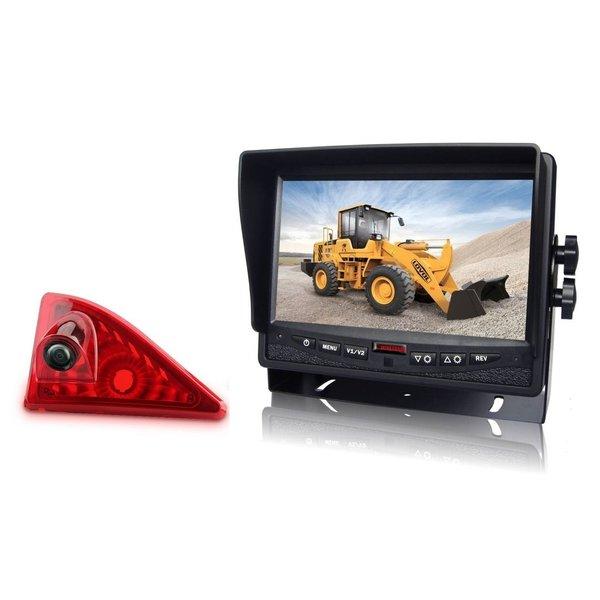 RVS-systemen Opel Movano 2010-heden) Remlichtcamera Monitor 7 inch RVM-780