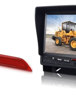 RVS-systemen Ford Transit  Custom Klep (2014-heden) Remlichtcamera Monitor 7 inch RVM-780