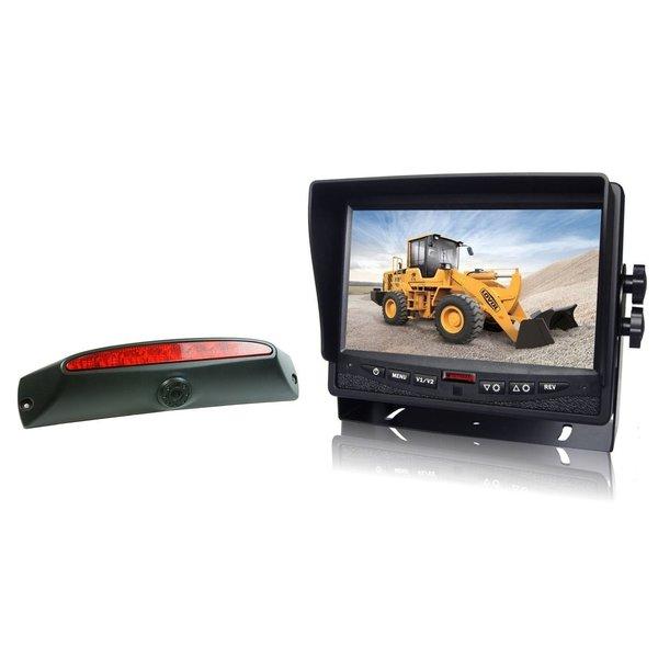 RVS-systemen IVECO Daily (2011-2014) Remlichtcamera Achteruitrijcamera  Monitor 7 inch RVM-780