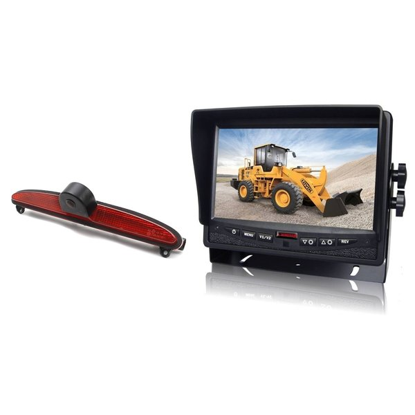 RVS-systemen IVECO Daily (2014 -2018) Remlichtcamera Achteruitrijcamera Monitor 7 inch RVM-780
