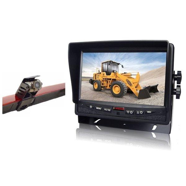 RVS-systemen Mercedes Vito  (2011-2014) Remlichtcamera Achteruitrijcamera Monitor 7 inch RVM-780