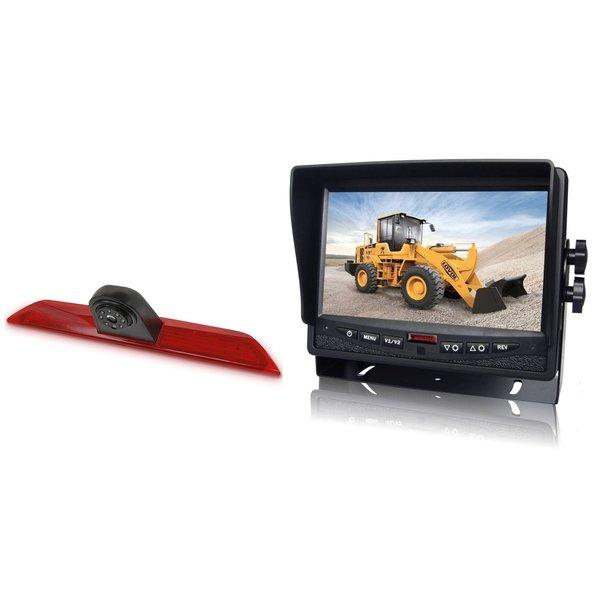 RVS-systemen Ford Transit  (2014-heden) Remlichtcamera Monitor 7 inch RVM-780