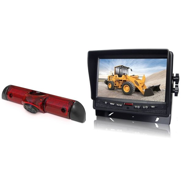 RVS-systemen Citroen Jumper (2006-heden) Remlichtcamera  Achteruitrijcamera Monitor 7 inch RVM-780