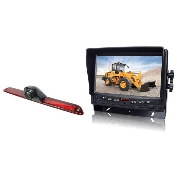 RVS-systemen VW Crafter (2016-heden) Remlichtcamera Achteruitrijcamera  Monitor 7 inch RVM-780