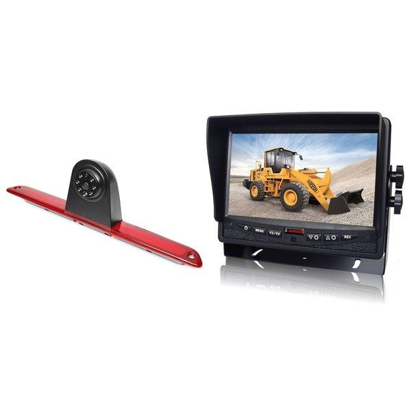 RVS-systemen VW Crafter Hoog (2007- heden)  Remlichtcamera Achteruitrijcamera  Monitor 7 inch RVM-780