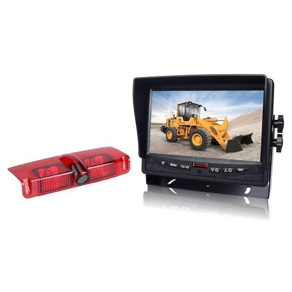 RVS-systemen Chevrolet Express GMC Savana (2003-2016) Remlichtcamera Achteruitrijcamera  Monitor 7 inch RVM-780