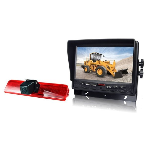 RVS-systemen VW Caddy  (2010-heden) Remlichtcamera Achteruitrijcamera  Monitor 7 inch RVM-780