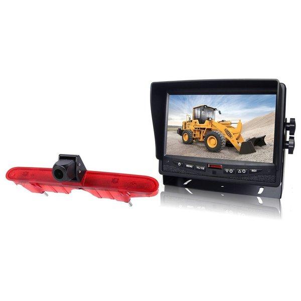 RVS-systemen Peugeot Partner (2008-2016) Remlichtcamera Achteruitrijcamera  Monitor Monitor 7 inch RVM-780