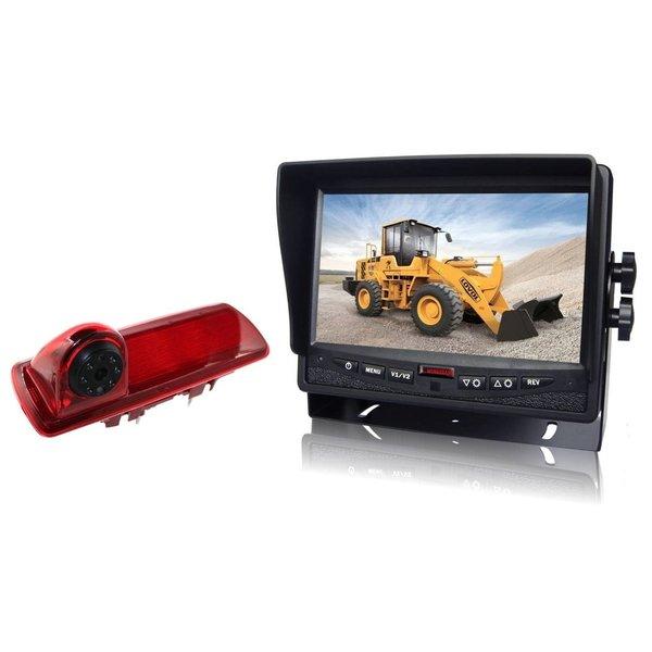 RVS-systemen Nissan  NV300 (2016-heden) Remlichtcamera Monitor 7 inch RVM-780