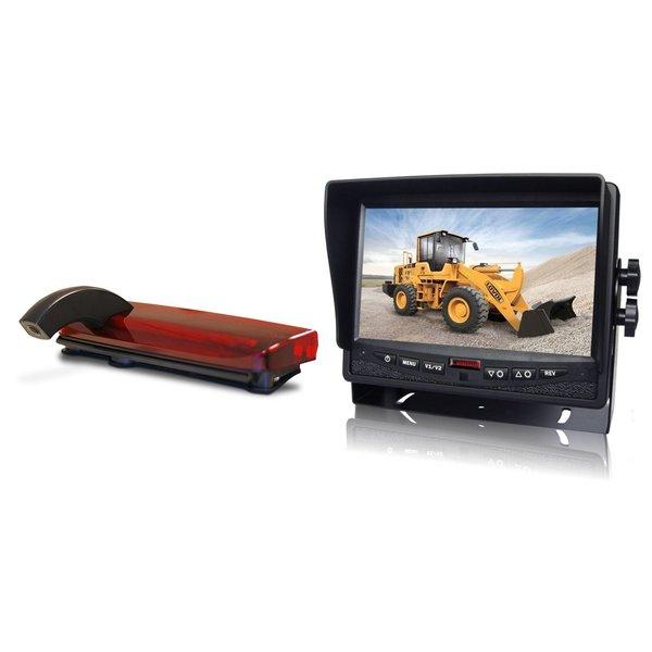 RVS-systemen Ford Transit Connect (2013-heden) Remlichtcamera Achteruitrijcamera Monitor 7 inch RVM-780