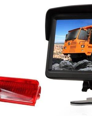 RVS-systemen VW Caddy (2008-2016) Remlichtcamera  Monitor 7 inch RVM-760