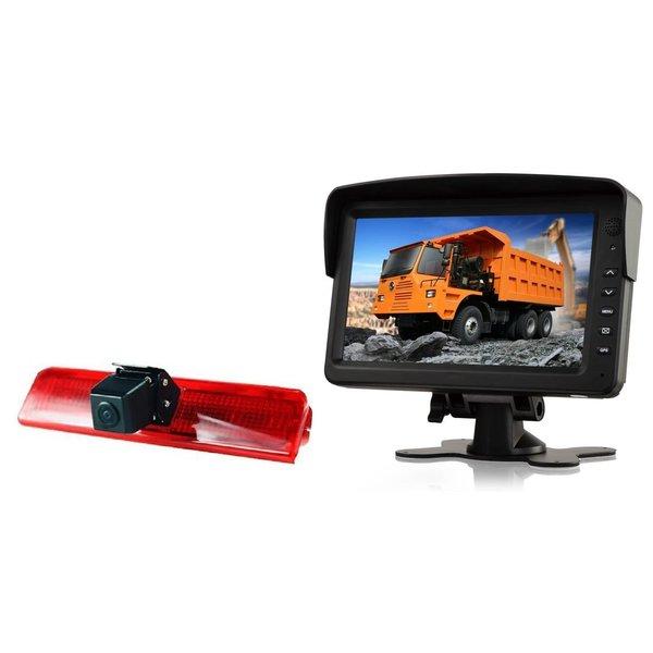 RVS-systemen VW Caddy  (2010-heden) Remlichtcamera Achteruitrijcamera  Monitor 7 inch RVM-760