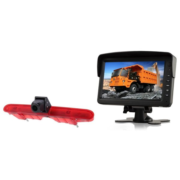 RVS-systemen Peugeot Partner (2008-2016) Remlichtcamera Achteruitrijcamera  Monitor Monitor 7 inch RVM-760