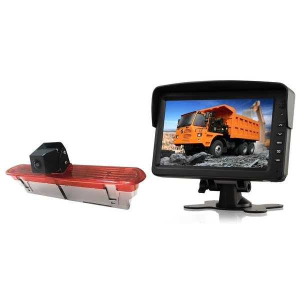 RVS-systemen Opel Combo (2011–2017)) Remlichtcamera  Achteruitrijcamera  Monitor 7 inch RVM-760