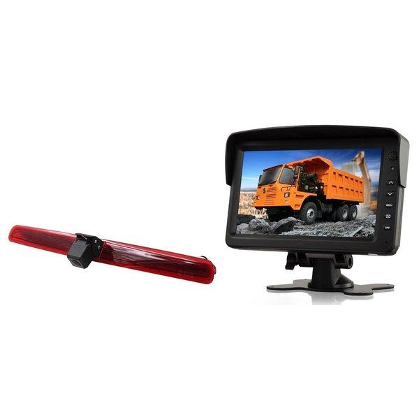 RVS-systemen VW Transporter T5 met  achterklep(2003-2015) Remlichtcamera  Monitor 7 inch RVM-760