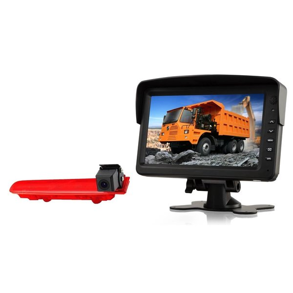 RVS-systemen VW Transporter T5 (2010-heden) Remlichtcamera Achteruitrijcamera  Monitor 7 inch RVM-760