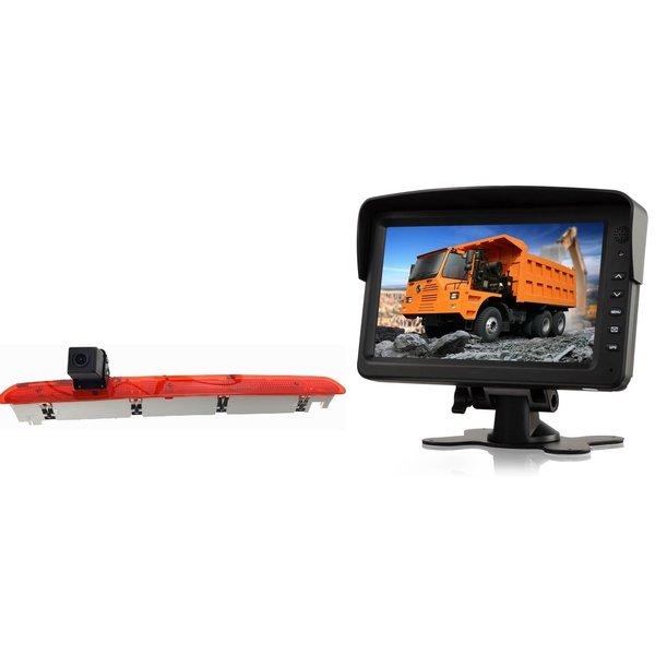 RVS-systemen VW Transporter T6 Klep (2016-heden) Remlichtcamera Monitor 7 inch RVM-760