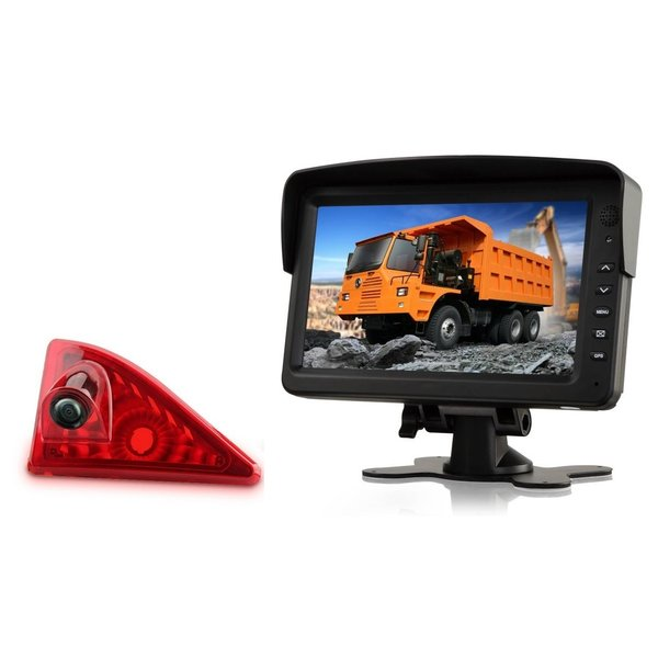RVS-systemen Nissan NV400 (2010 -heden) Remlichtcamera Monitor 7 inch RVM-760