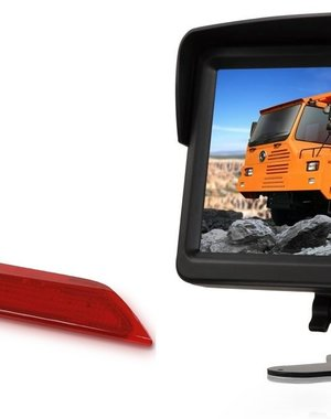 RVS-systemen Ford Transit  Custom Klep (2014-heden) Remlichtcamera Monitor 7 inch RVM-760