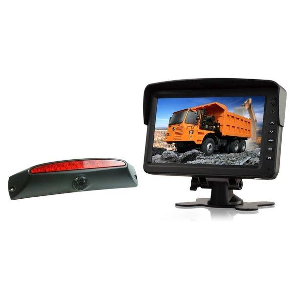 RVS-systemen IVECO Daily (2011-2014) Remlichtcamera Achteruitrijcamera  Monitor 7 inch RVM-760