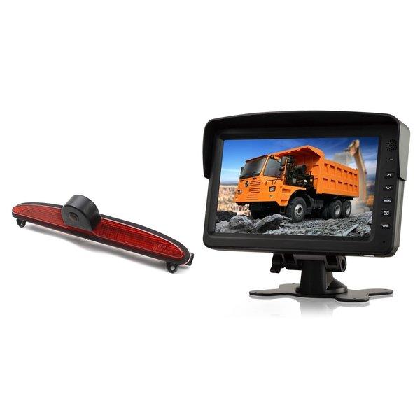 RVS-systemen IVECO Daily (2014 -2018) Remlichtcamera Achteruitrijcamera Monitor 7 inch RVM-760