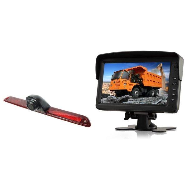 RVS-systemen Mercedes Sprinter Laag (2007- heden) Remlichtcamera Achteruitrijcamera Monitor 7 inch RVM-760