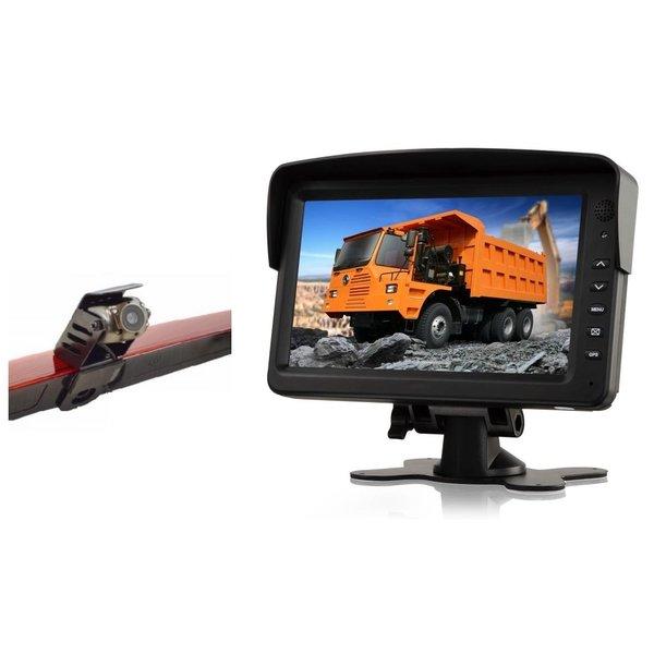 RVS-systemen Mercedes Vito  (2011-2014) Remlichtcamera Achteruitrijcamera Monitor 7 inch RVM-760