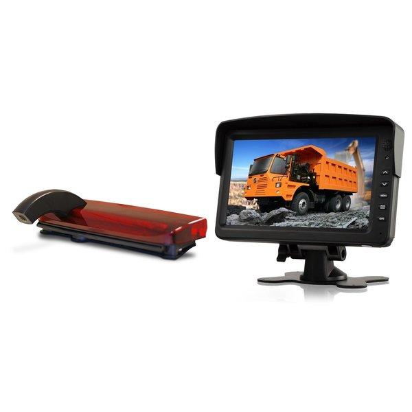 RVS-systemen Ford Transit Connect (2013-heden) Remlichtcamera Achteruitrijcamera Monitor 7 inch RVM-760