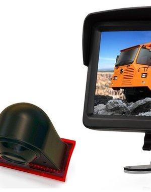 RVS-systemen Ford Transit Custom (2012-mei 2016) Remlichtcamera Monitor 7 inch RVM-760
