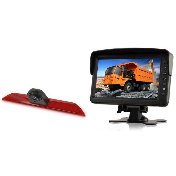 RVS-systemen Ford Transit  (2014-heden) Remlichtcamera Monitor 7 inch RVM-760