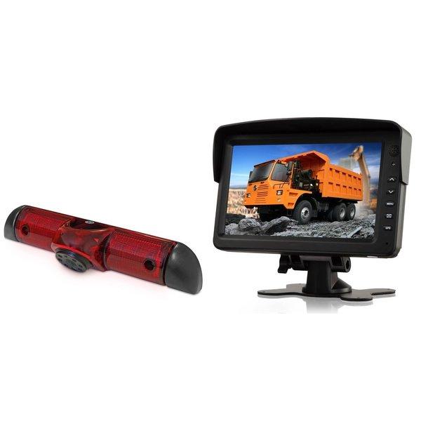 RVS-systemen Fiat Ducato (2006-heden) Remlichtcamera Achteruitrijcamera Monitor 7 inch RVM-760