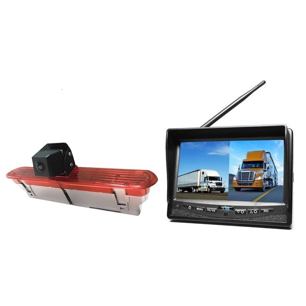 RVS-systemen Opel Combo (2011–2017)) Remlichtcamera Draadloze set Monitor 7 inch RVM-708