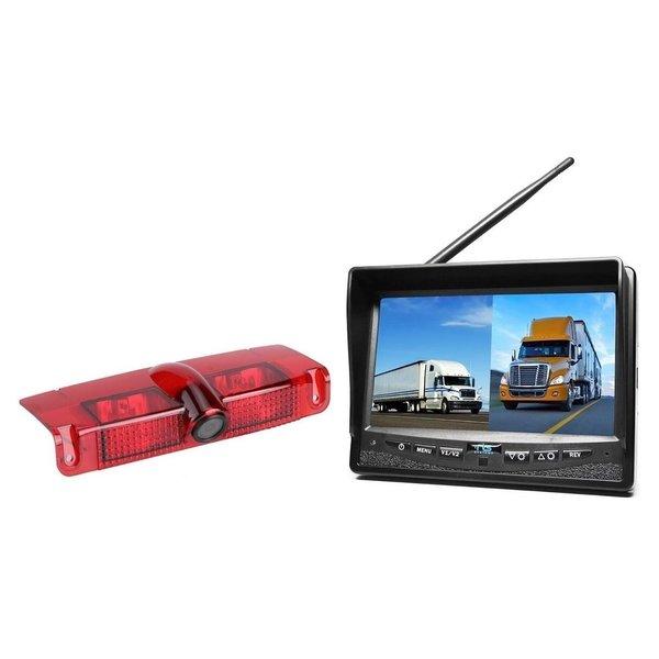RVS-systemen Chevrolet Express GMC Savana (2003-2016) Remlichtcamera  Draadloze set Monitor 7 inch RVM-708