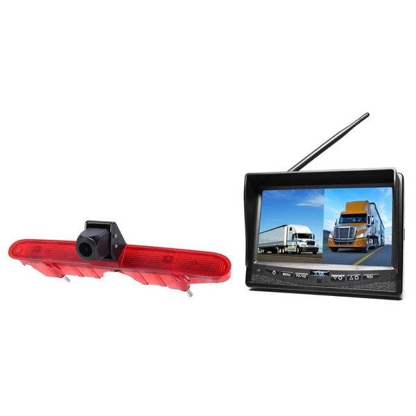 RVS-systemen Peugeot Partner (2008-2016) Remlichtcamera  Draadloze set Monitor Monitor 7 inch RVM-708