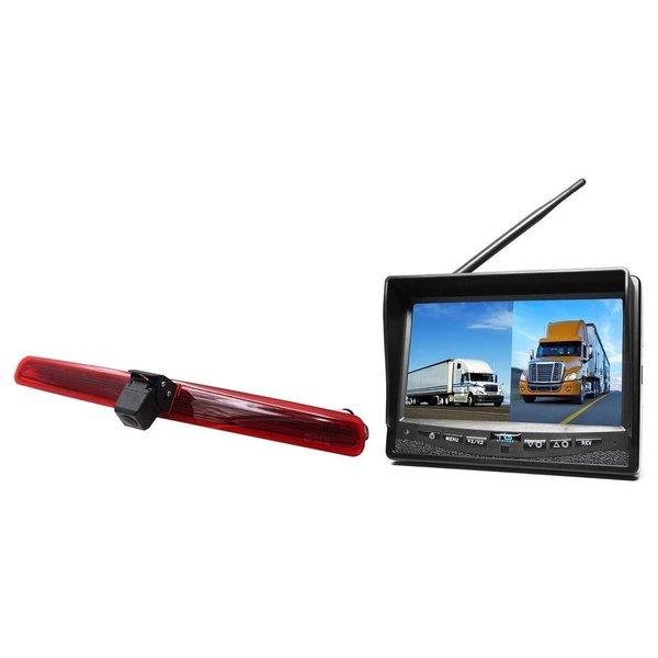 RVS-systemen VW Transporter T5 met  achterklep (2003-2015) Remlichtcamera Monitor 7 inch RVM-708