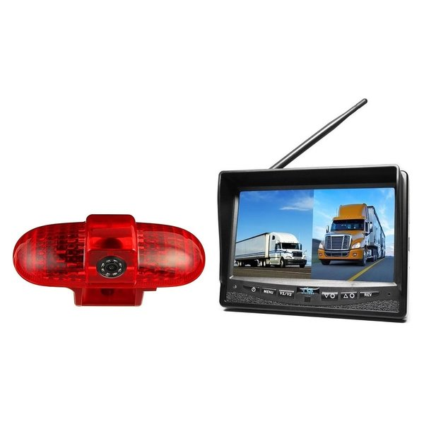 RVS-systemen Renault Trafic (2001-2014) Remlichtcamera Draadloze set Monitor 7 inch RVM-708