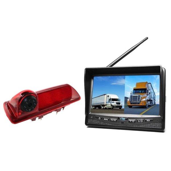 RVS-systemen Nissan  NV300 (2016-heden) Remlichtcamera Draadloze set Monitor 7 inch RVM-708